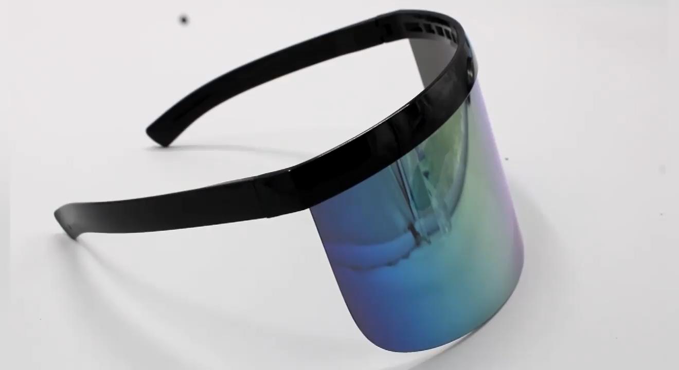 85mm Übergroßen objektiv anti-voyeur anti-schaum schutz sonnenbrille Mode im freien anti-uv sonnenbrille Motorrad gesicht schild
