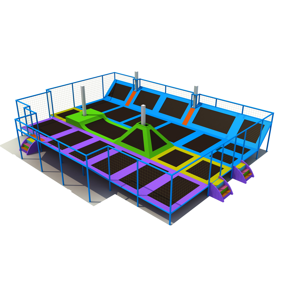 Kids Play Zone Indoor Adult Commercial Small Bungee Rectangular Trampoline