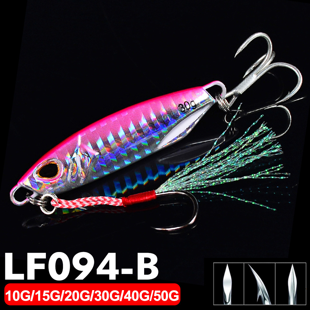 Details about  /Hook 10g 15g 20g 30g Spinning Baits Jig Bait Metal Fishing Lures Lead Casting