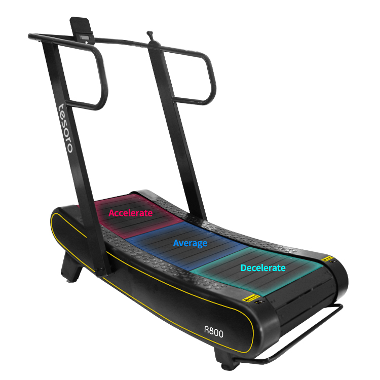 Air runner curve readmill fitness for all skill levels use woodway treadmill skillmill sports fitness equipment with display