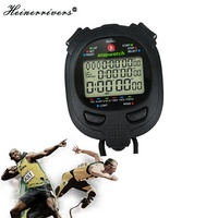 Classic Digital Professional Handheld LCD Chronograph Sports Stopwatch Timer Stop Watch With String 2019 New Sale