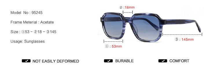 95245 New Design Sunglasses 2020 Italy Style Polarized Sunglasses Hot Selling Lunettes De Soleil