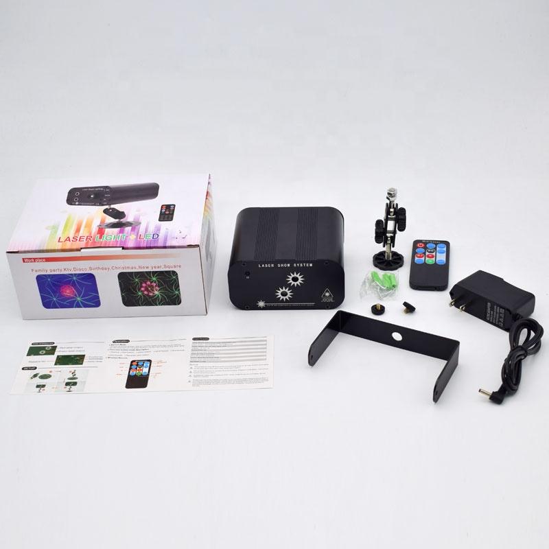 YSH 2 отверстия 48 узоров лазерный dj стробоскопический свет для дискотеки DJ Вечерние огни KTV проектор цветовой эффект для бара клуба