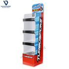 4 shelf cardboard displays floorbin bin paper displays stand
