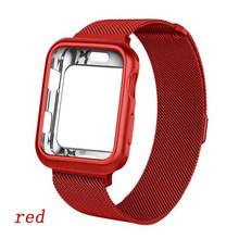 Чехол + Миланская петля для Apple Watch, 44 мм, 40 мм, 38 мм, 42 мм, браслет из нержавеющей стали, ремешок для iwatch 5/4/3/2/1, чехол(Китай)