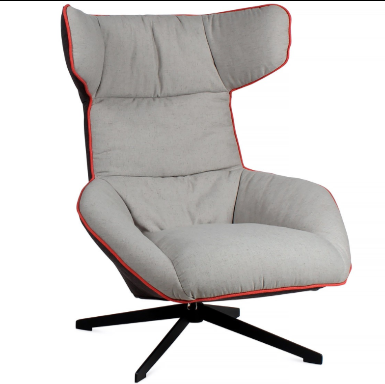Modern furniture Italian style living room fiberglass Alfredo Haberli take a line for a walk chaise lounge chair