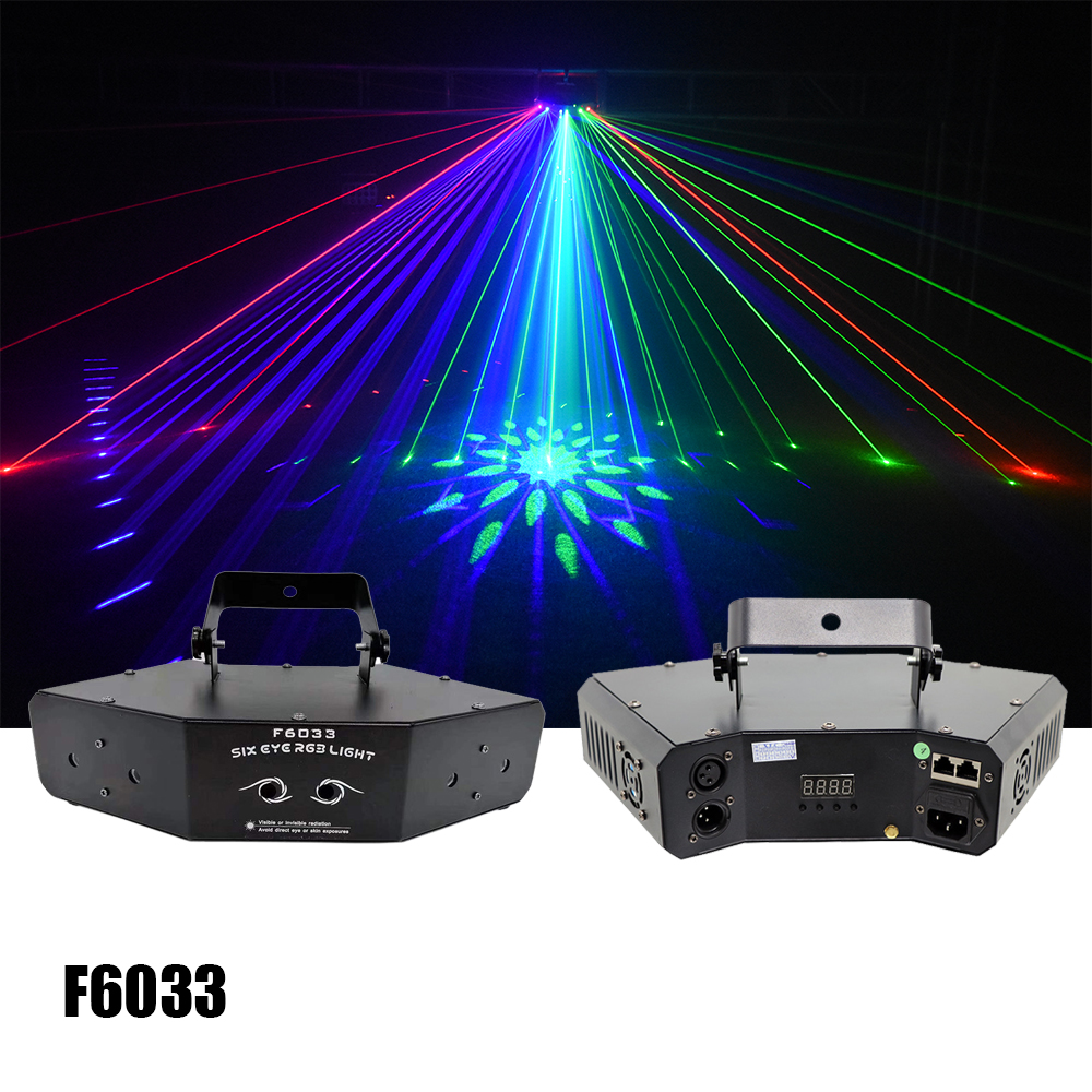 Dj disco lasers show stage Lazer 6 Eyes Mini Laser KTV Light