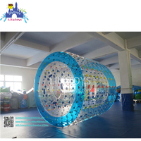 Promotion good price PVC/TPU inflatable roller ball for water game entertainment
