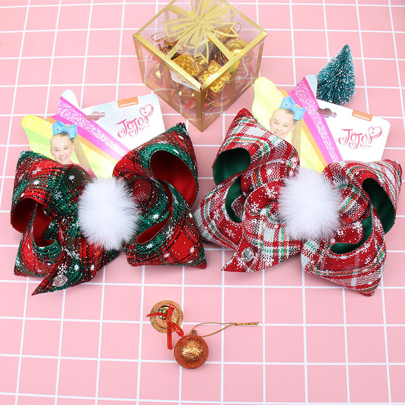 2019 New Style Fashion Christmas Hair Pin Cute 7 Inch Bow Hair Clip Factory Wholesale