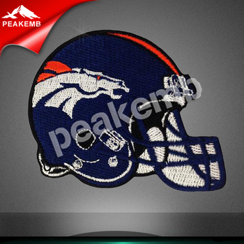 iron on Broncos helmet embroidery patch football team patch