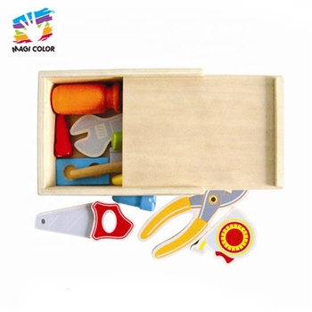 New arrival kids wooden toy tool box for pretend play W13E026