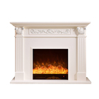 Professional steam wall wood burning electric fireplace with simulated flame