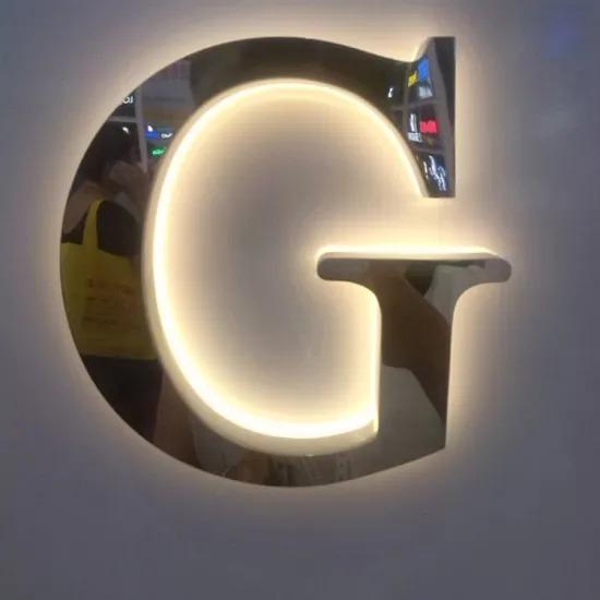 Back Lit LED Box Acrylic Letters Custom Giant Acrylic Neon Letter Signage