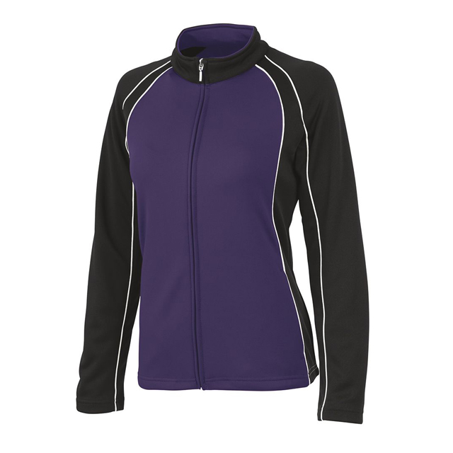 High Quality Long Sleeve Full Zipper Women's Custom Gym Training Tracksuit
