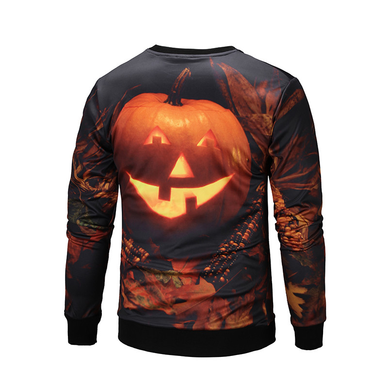 New Halloween Style Over 3D Printing Crew Neck Sublimation Sweatshirt