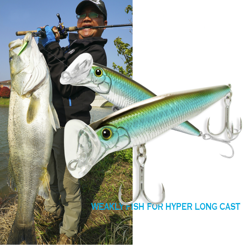 Huiping Lures Fishing 85mm 20g Minnow Lure Fishing Bait Sinking Pesca artificial Baits