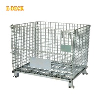 Wholesale stackable collapsible top quality agriculture mobile transport industrial zinc storage container bin