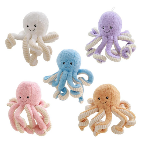 Creative Cute Octopus Plush Toys Whale Dolls Stuffed Toys Plush Small Pendant Sea Animal Toys