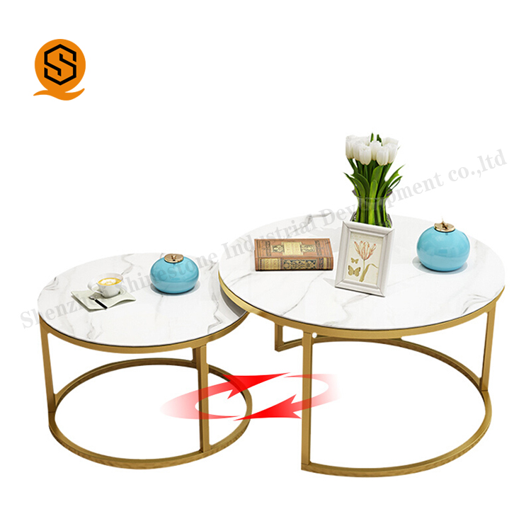 White acrylic solid surface table top coffee table with Stainless Steel Frame