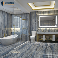 Blue Big Size 900X1800Mm Chinese Porcelain Tile Bathroom Decorated Full Polished Porcelain Tiles