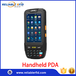 Reliablerfid  wireless handheld mobile android barcode scanner pda LF HF NFC UHF RFID Handheld Reader