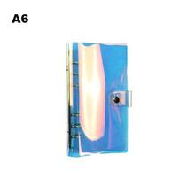 Чехол для дневника A5 A6 A7 из ПВХ, Радужный лазерный переплет, прозрачный, для школы, сделай сам, 6 отверстий, переплет, ежедневник, Обложка, офис...(Китай)