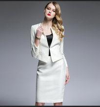 Женский костюм из двух предметов, офисный деловой пиджак, твидовый пиджак, юбка, элегантный наряд высокого качества, униформа(Китай)
