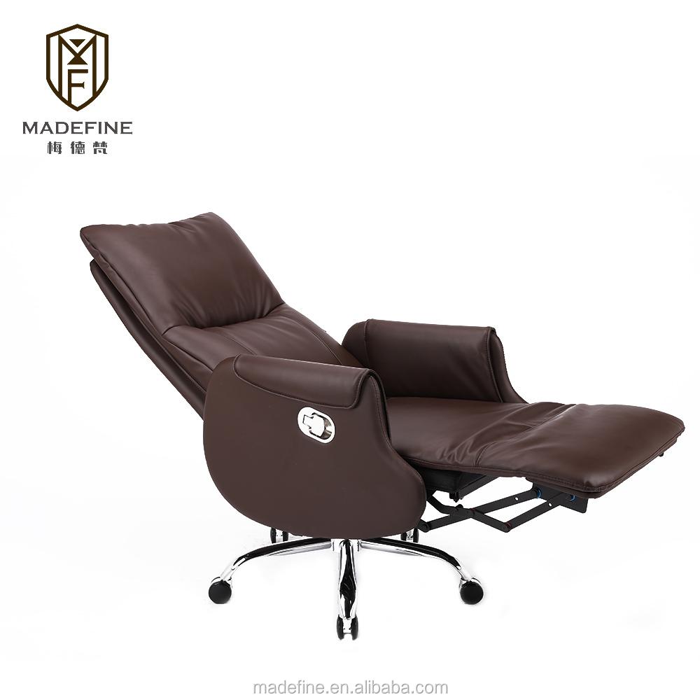 MDF82008 Noir PU ou Cuir Véritable pivotant Pause Déjeuner Chaise Exécutive bureau Junior et spécifications de chaise de bureau