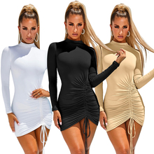 Hot <span class=keywords><strong>Koop</strong></span> Amazon <span class=keywords><strong>Europese</strong></span> En Amerikaanse Vrouwen Fleece Rhick Sexy Bodycon Plus Size Jurk