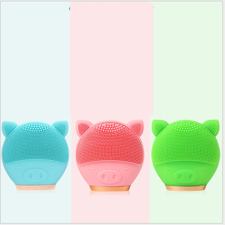 2020 New design Acoustic wave magnetic massage silicone sonic facial cleansing brush sonic face brush