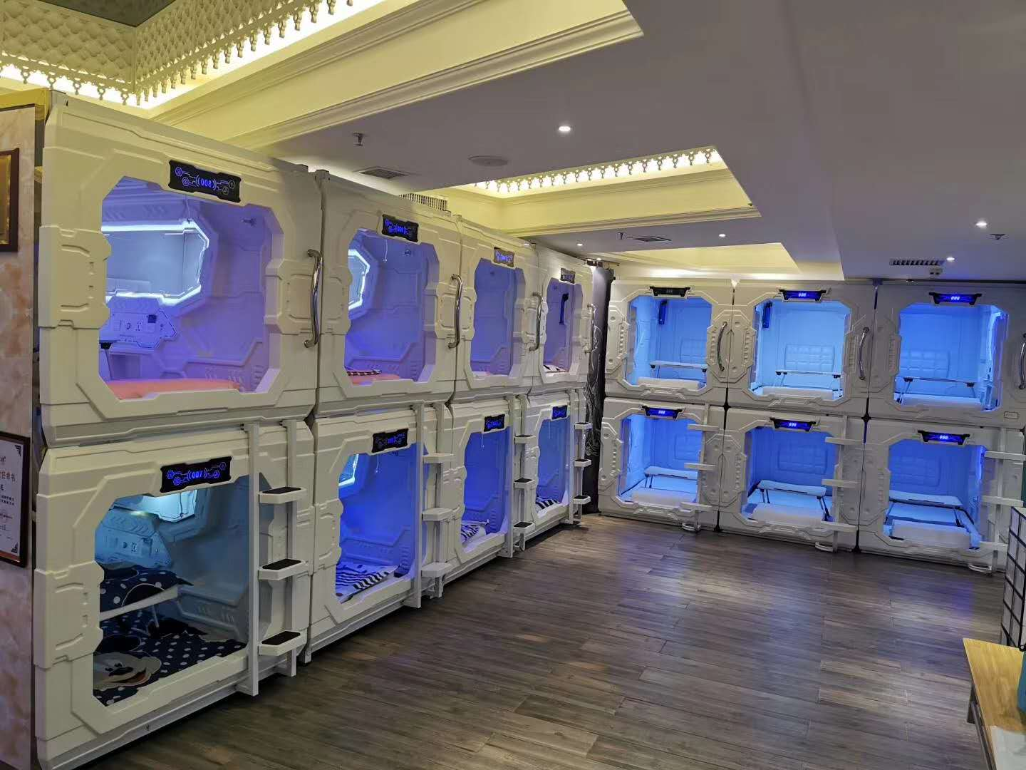 CAPSULE HOTEL/CAPSULE BED/SLEEP BOX STARSDOVE-SDM-861 ROHS Certificated Capsule Hotel With Star International Hotel Experience