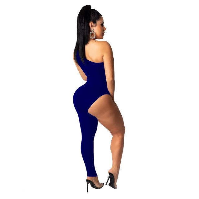 Модный популярный Облегающий комбинезон с одной ножкой, женский комбинезон, 2020, сексуальные вечерние костюмы для выхода в клуб, цельные нар...(Китай)