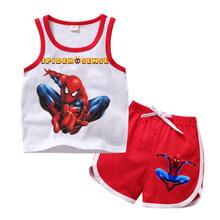 Детская одежда для девочек, комплекты одежды «Эльза и Анна», летняя одежда для маленьких девочек, футболка для мальчиков + шорты, комплекты д...(Китай)