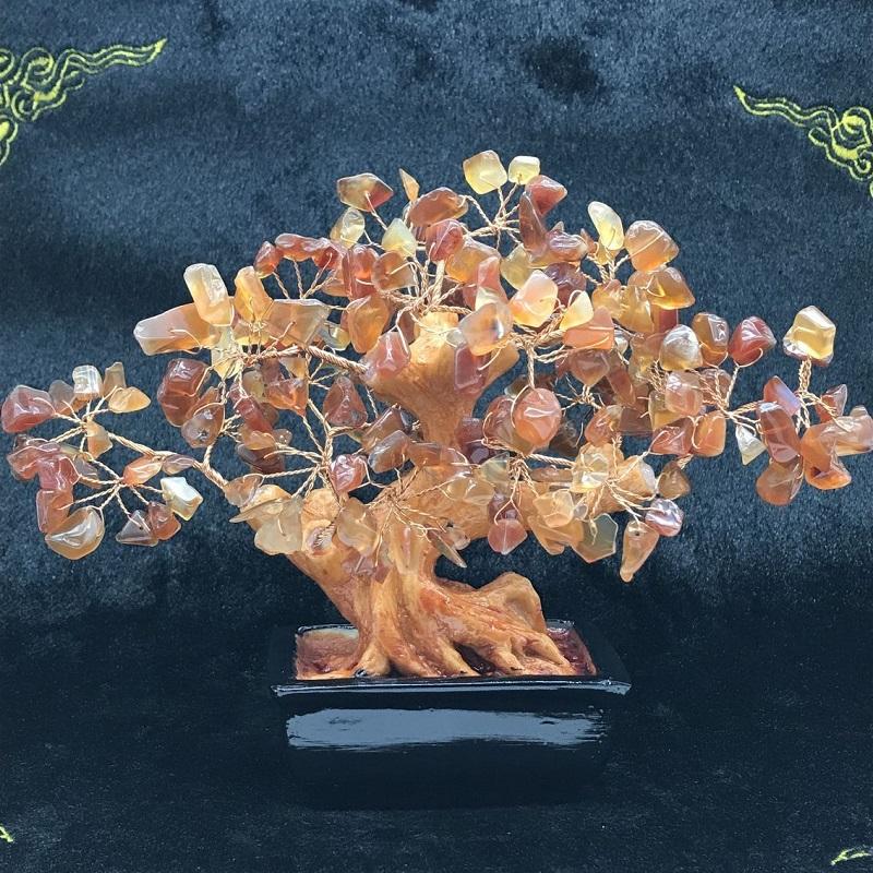 प्राकृतिक सुलेमानी पत्थर पेड़ सिट्रीन लकी ट्री जीवन घर सजावट क्रिस्टल पत्थर पेड़