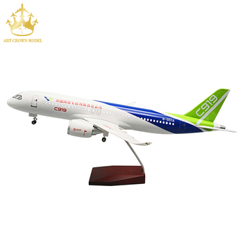 Diecast Model Airplane Aircraft C919 China Commercial Airliner 1/82 Airplane Scale Model