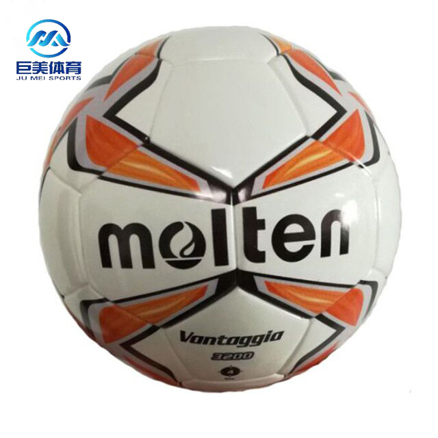 Customize Professional PU Thermo Bonded Low Bounce official weight Size 4 Molten <strong>Football</strong> soccer ball