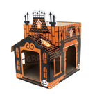Halloween Style Corrugated Cardboard Pet Play House,Custom Design Cardboard Dog Cat House