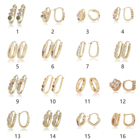 IPMIN 2020 hoop 24k gold brass earrings for women,OEM fashion 18k gold plated earrings factory supplier,jewelry 2020