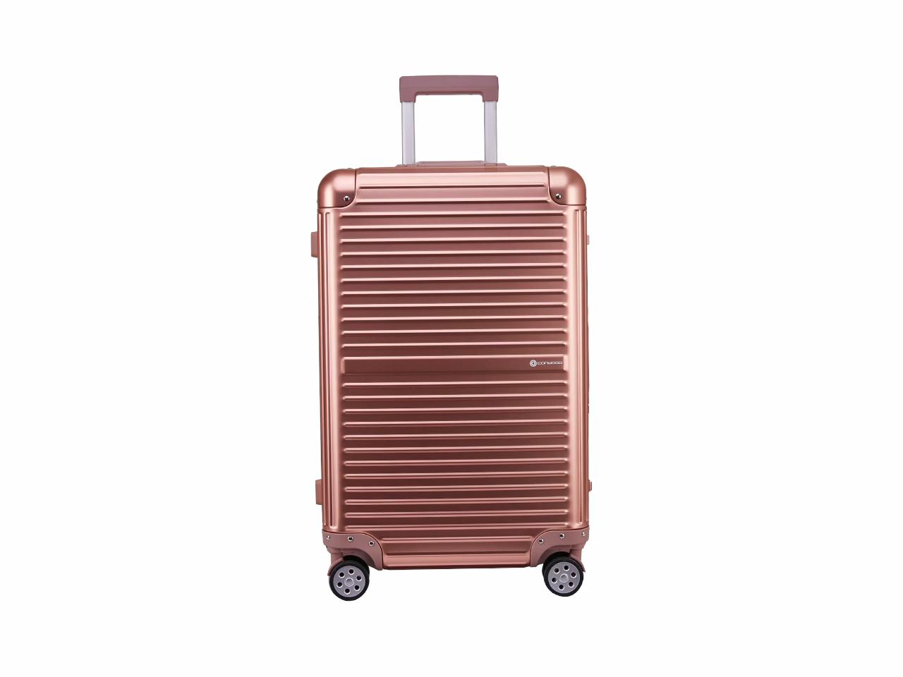 Aluminium hohe qualität trolley für einfache reise flugzeug gepäck mit teleskop griff