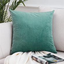 Topfinel мягкие однотонные бархатные наволочки, наволочки для подушек, роскошные квадратные декоративные наволочки для дивана, кровати, автомо...(Китай)