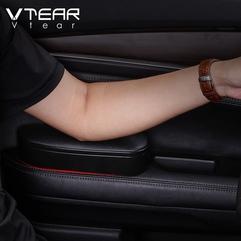 Vtear universal car armrest storage box adjustment left arm rest leather mat Elbow Support Bracket accessories decoration <strong>auto</strong>