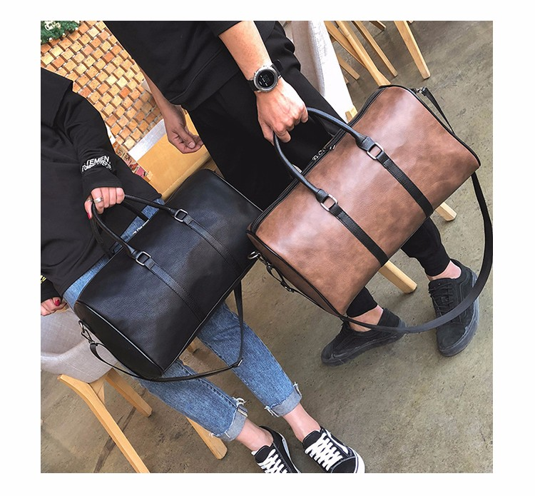 Leather  Travelling bag Duffel Bag Holdall Weekend Gym Travel Bag