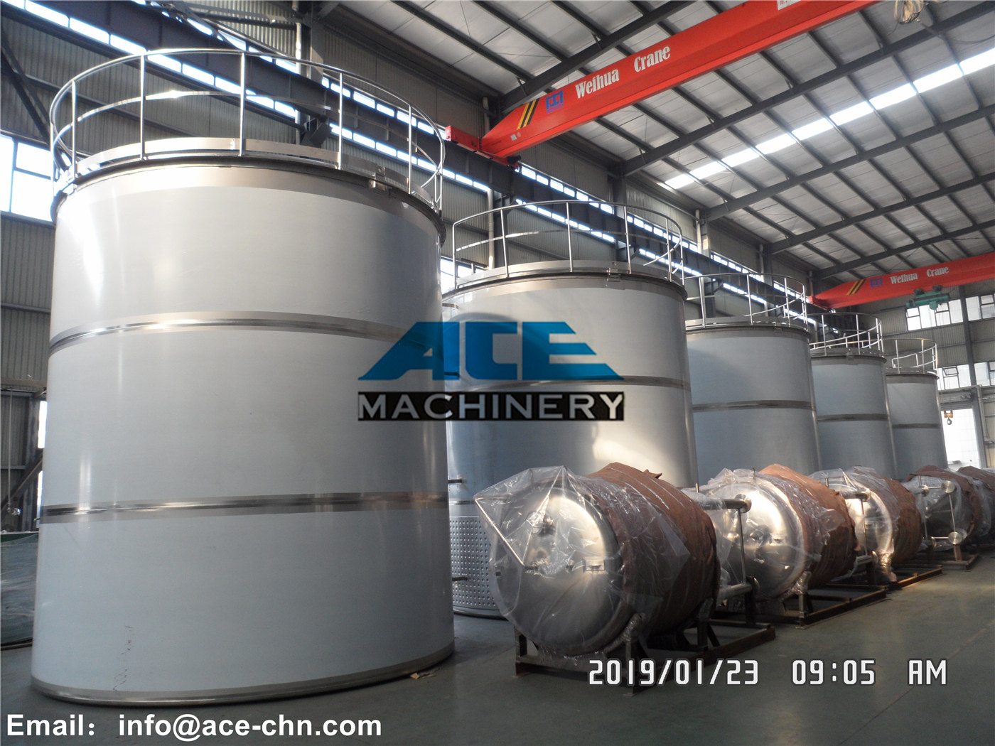 Stainless Steel Hydrogen Storage Tank Price 2000 L