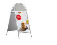 Metal Steel Double Side Vertical Advertising System Magnetic Customizable Poster Picture Menu Board