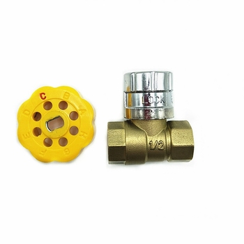 DR 1023 magnetic lockable water brass ball valve
