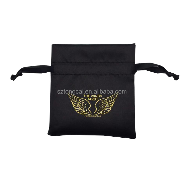 Customized Satin Hair Extension Packaging Pouch Bags for Wigs