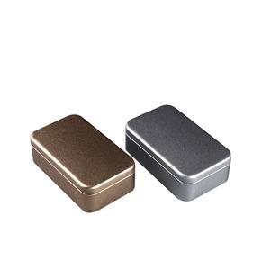 Small tin cans container tin rectangular tin box
