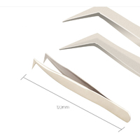 Stainless Steel Eyelash Tweezer with Leather Pouch for Eyelash Extension