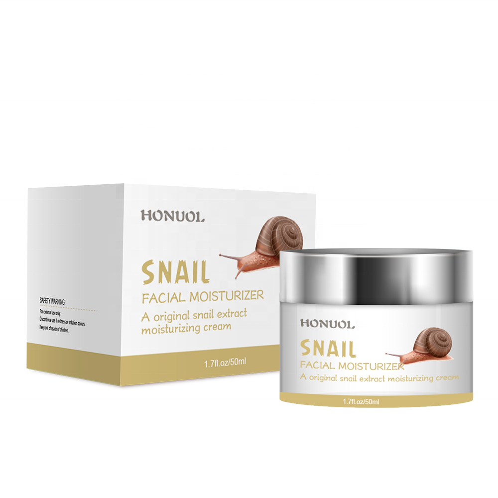 Private Label Snail White Collagen Hyaluronic Acid ครีม Anti-aging Repair Whitening Snail Slime ครีม