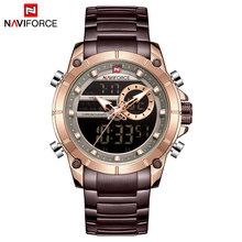 Часы NAVIFORCE мужские, из нержавеющей стали, водонепроницаемые(Китай)